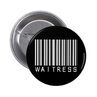 Waitress Bar Code 2 Inch Round Button