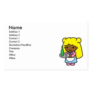 Waitress Business Card