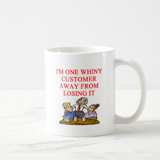 WAITRESS cudtomer joke Coffee Mug