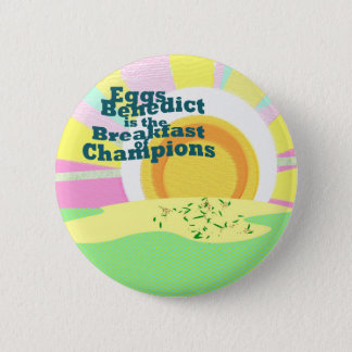 Waitress Flare Eggs Benedict Breakfast Sales - 2 Inch Round Button