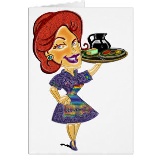WAITRESS Greeting Card