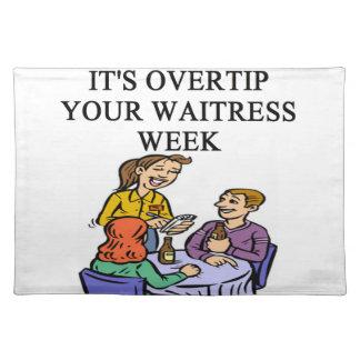 waitress joke placemats