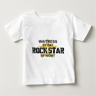 Waitress Rock Star by Night Baby T-Shirt