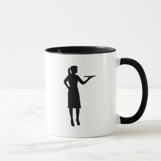 Waitress server mug