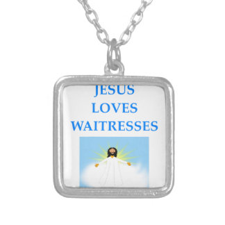 WAITRESS SILVER PLATED NECKLACE