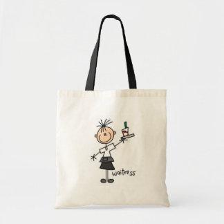 Waitress Stick Figure Tote Bag
