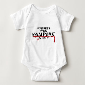 Waitress Vampire by Night Baby Bodysuit