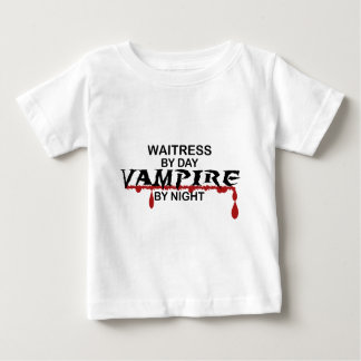 Waitress Vampire by Night Baby T-Shirt