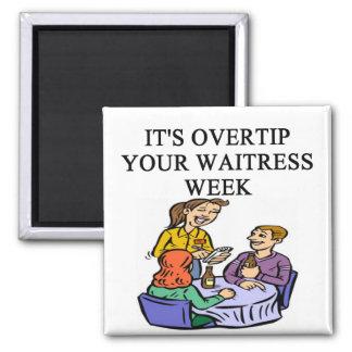 waitress week joke square magnet