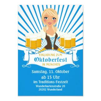 Waitress with Stein Oktoberfest Invitation