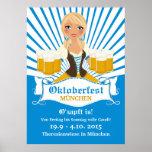 Waitress with Stein Oktoberfest Poster