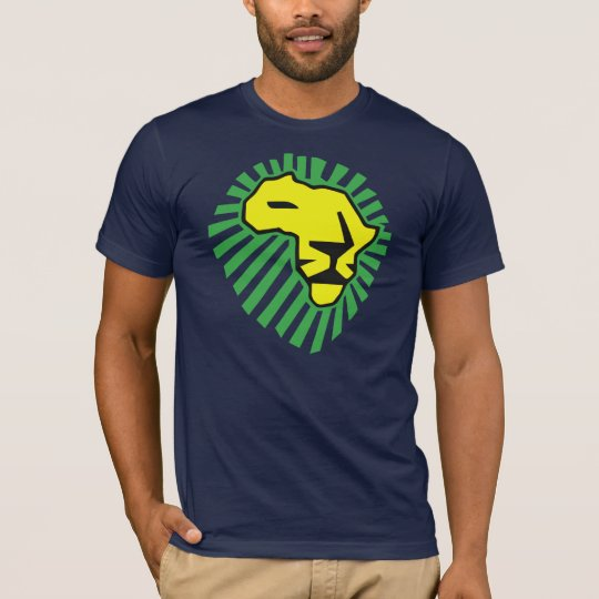 Waka waka Green Mane Yellow Lion Shirt