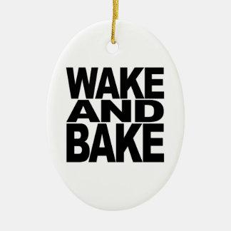 Wake And Bake Ceramic Ornament