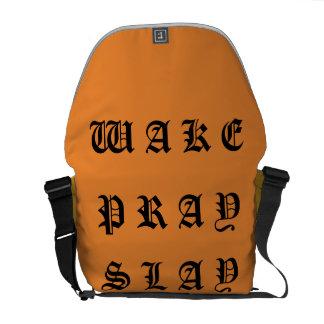 WAKE AND PRAY AND SLAY COURIER BAG
