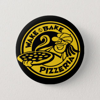 Wake & Bake Pizza by Mini Brothers 2 Inch Round Button