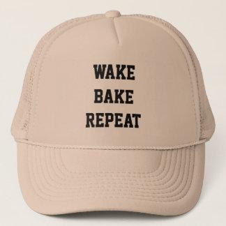 Wake Bake Repeat Trucker Hat