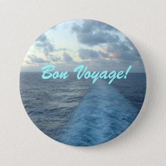 Wake Bon Voyage 3 Inch Round Button