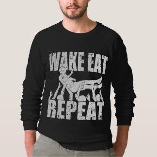 WAKE EAT crowd surf REPEAT (wht) Sweatshirt