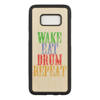 Wake Eat DRUM Repeat Carved Samsung Galaxy S8 Case