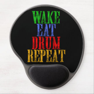 Wake Eat DRUM Repeat Gel Mouse Pad