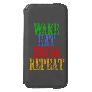 Wake Eat DRUM Repeat Incipio Watson™ iPhone 6 Wallet Case