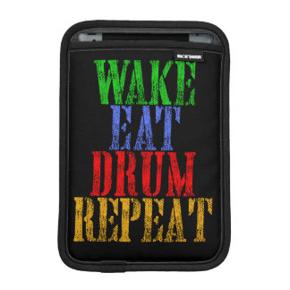 Wake Eat DRUM Repeat iPad Mini Sleeve