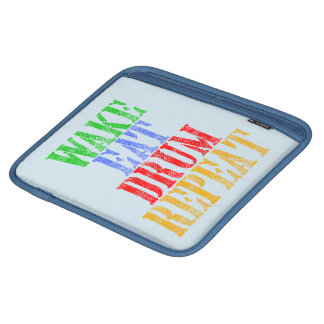 Wake Eat DRUM Repeat iPad Sleeve