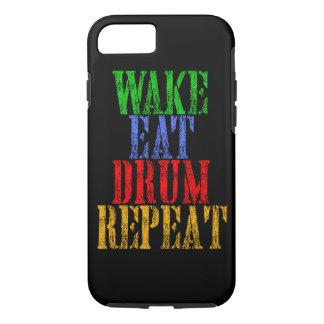 Wake Eat DRUM Repeat iPhone 8/7 Case