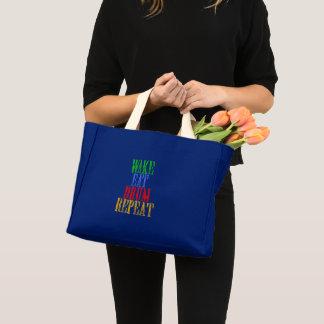 Wake Eat DRUM Repeat Mini Tote Bag