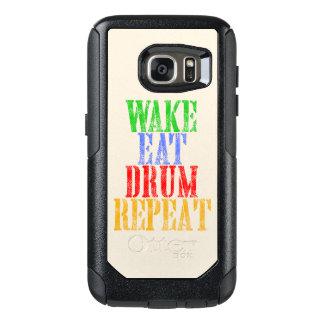Wake Eat DRUM Repeat OtterBox Samsung Galaxy S7 Case