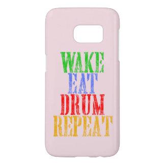 Wake Eat DRUM Repeat Samsung Galaxy S7 Case