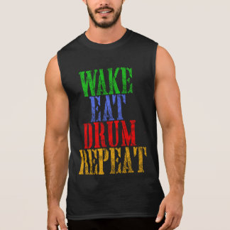 Wake Eat DRUM Repeat Sleeveless Shirt