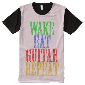 Wake Eat GUITAR Repeat All-Over-Print T-Shirt
