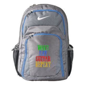 Wake Eat GUITAR Repeat Backpack
