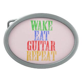 Wake Eat GUITAR Repeat Belt Buckles