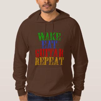 Wake Eat GUITAR Repeat Hoodie