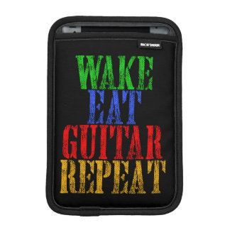 Wake Eat GUITAR Repeat iPad Mini Sleeve