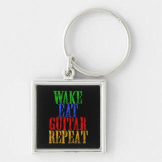Wake Eat GUITAR Repeat Keychain