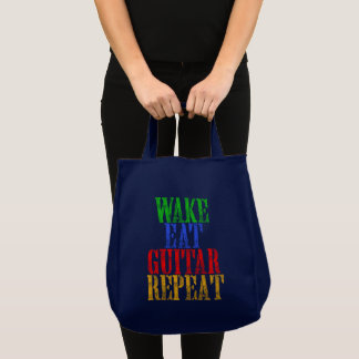 Wake Eat GUITAR Repeat Tote Bag