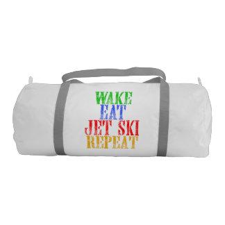 WAKE EAT JET SKI REPEAT GYM BAG