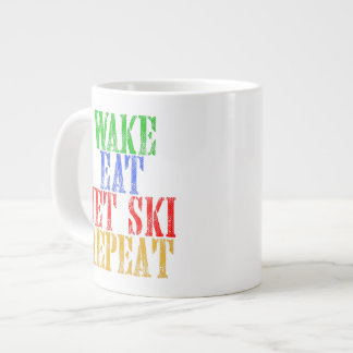 WAKE EAT JET SKI REPEAT LARGE COFFEE MUG