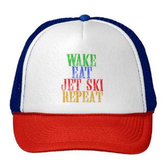 WAKE EAT JET SKI REPEAT TRUCKER HAT