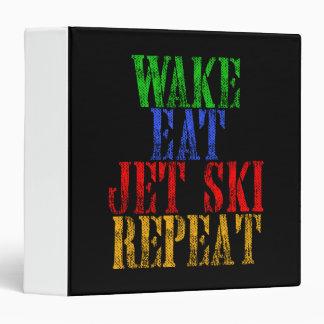 WAKE EAT JET SKI REPEAT VINYL BINDER