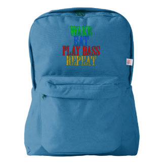 Wake Eat PLAY BASS Repeat Backpack