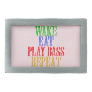 Wake Eat PLAY BASS Repeat Belt Buckle