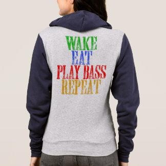 Wake Eat PLAY BASS Repeat Hoodie