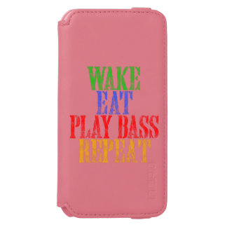 Wake Eat PLAY BASS Repeat Incipio Watson™ iPhone 6 Wallet Case