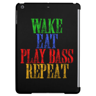 Wake Eat PLAY BASS Repeat iPad Air Case