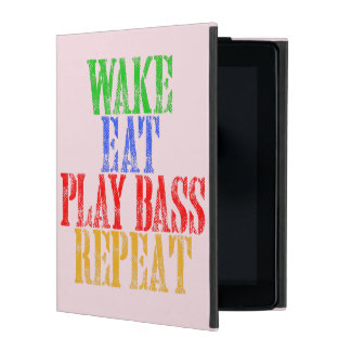 Wake Eat PLAY BASS Repeat iPad Case