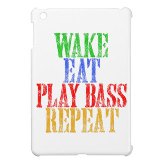 Wake Eat PLAY BASS Repeat iPad Mini Cover